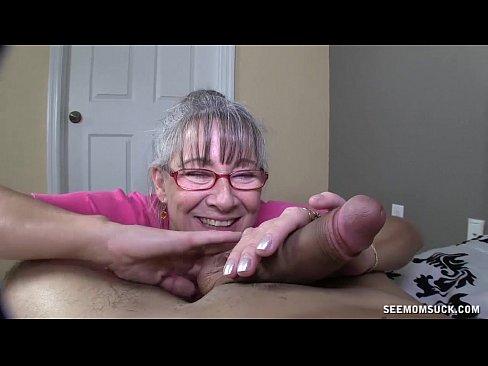 Horny milf fucks and milks two cocks